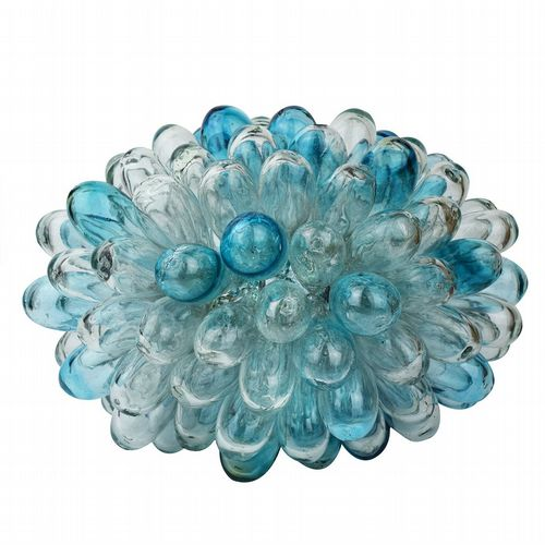 Recycled Glass Grape Lamp - Large - Turquoise & Clear